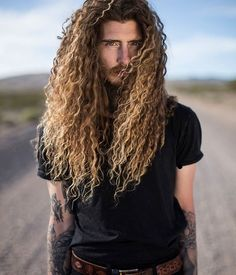 Quick hairstyles For Long hair instructions men with womans hair Click the image now for more info. Long Hair Beard, Long Curly Hair, Black Power, Hair And Beard Styles, Curly Hair Styles, Gay, Wild Hair, Popular Haircuts, Hair Images