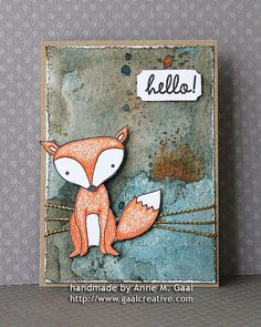 Artist trading card by Anne M. Gaal. Love the colours, textures and simplicity of the design. Its brilliant :D