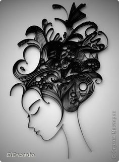 Dibujo Pintura mural Masterclass Quilling Perfil + Niñas Mini MK banda de Papel foto 1