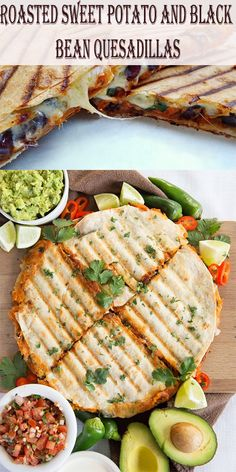 Roasted Sweet Potato and Black Bean Quesadillas - Hot From My Oven