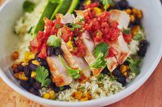 An Easy Burrito Bowl Made with Cauliflower Rice