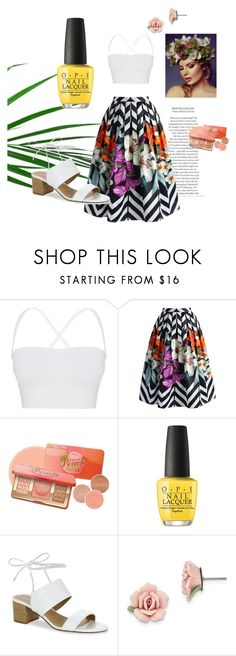 """""""Tropical suits"""" by michellepaper on Polyvore featuring moda, Theory, Chicwish, OPI, Tahari y 1928"""