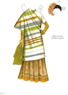 """""""Traditional Fashions from India Paper Dolls"""" by Ming-Ju Sun"""