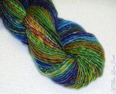 Bijoux Handspun Art Yarn  162 yards  Singles  by AFiberLoveJones, $65.00