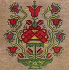 Bulgarian needlework embroidery, c1885