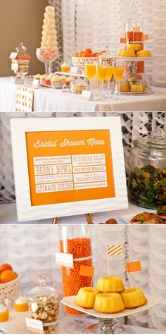 I love this menu style for a buffet...picky people like to know what they are eating!