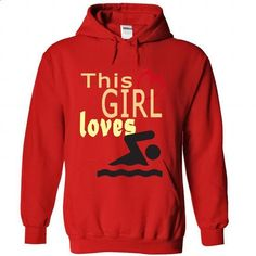 This girl loves Swimming - #cheap hoodies #denim shirts. PURCHASE NOW => https://www.sunfrog.com/Sports/This-girl-loves-Swimming-Red-45831105-Hoodie.html?60505
