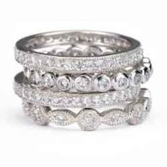 Stackable Diamond Rings I am in love with stackable wedding rings!!!