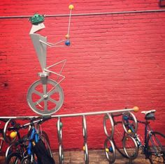 Singing frog #bike rack