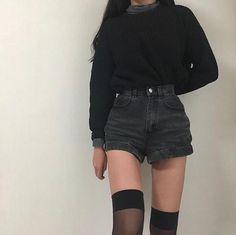 Korean Fashion – How to Dress up Korean Style – Designer Fashion Tips Grunge Outfits, Edgy Outfits, Korean Outfits, Cute Casual Outfits, Girl Outfits, Fashion Outfits, Style Fashion, Skinny Inspiration, Korean Girl Fashion
