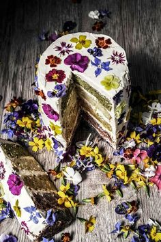 Oh this cake! Perfect boho or garden style.