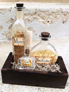 Large gift set of Gold Frankincense & Myrrh by FranklyRay on Etsy, $39.95