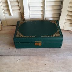 Green Jewelry Box Box With Lock And Key Genuine Texol