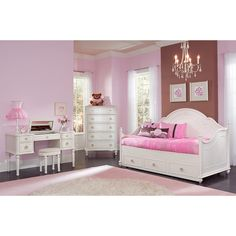 Modern Daybeds For Girls With Trundle And There Are Desks