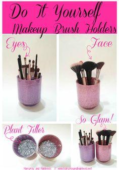 Makeup Brush Holders - 17 Great DIY Makeup Organization and Storage Ideas