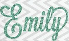 One Cell Phone Custom Sticker Glitter Name by SidelineSpiritWear, $5.50