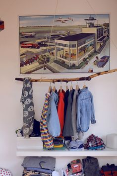 hang clothes at your garage sale from overhead rafters? Or clothes swap party!!