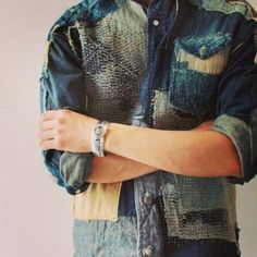 Patchwork boro denim