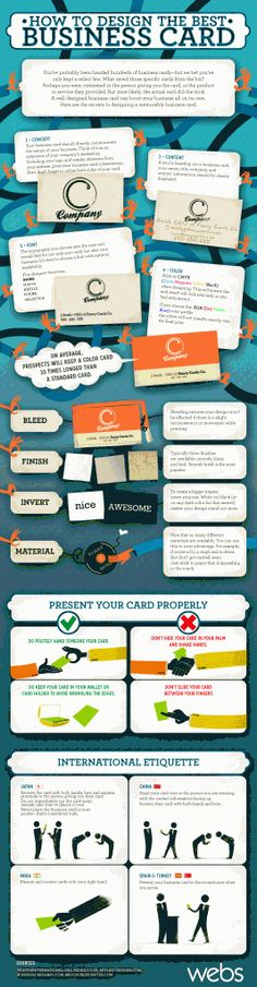 Fresh on IGM > #BusinessCard Design Tips: Business Cards are the extension of our proessional entity and thus our business advocates. This report highlights the details we should consider in business card design to make it stand out from the stack.   > http://infographicsmania.com/business-card-design-tips/