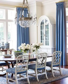 """2,355 Likes, 11 Comments - House Beautiful (@housebeautiful) on Instagram: """"Our favorite color combo meets the perfect dining room.(: @francescolagnese 