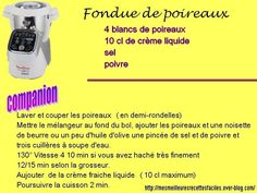 Leek fondue with moulinex companion - My Best Easy Recipes - - Crockpot Chicken Healthy, Healthy Soup, Easy Soup Recipes, Vegetarian Recipes, Salad Recipes, Cooking Red Lentils, Healthy Tortilla, Bacon Corn Chowder, Pro Cook