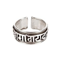 Inel amuletă Om Mani Padme Hum, argint, Nepal Om Mani Padme Hum, Mantra, Nepal, Silver Rings, Wedding Rings, Engagement Rings, Model, Jewelry, Silver