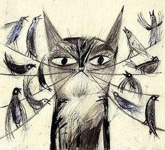 Кошки / Картинки для декупажа / PassionForum - мастер-классы по рукоделию