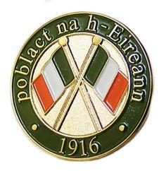Irish Republican Army 1916 Rising Commemoration Pin badge Celtic Pride, Irish Pride, Irish Celtic, Ireland 1916, Irish Fest, Books Art, Irish Images, Northern Ireland Troubles, Irish Independence