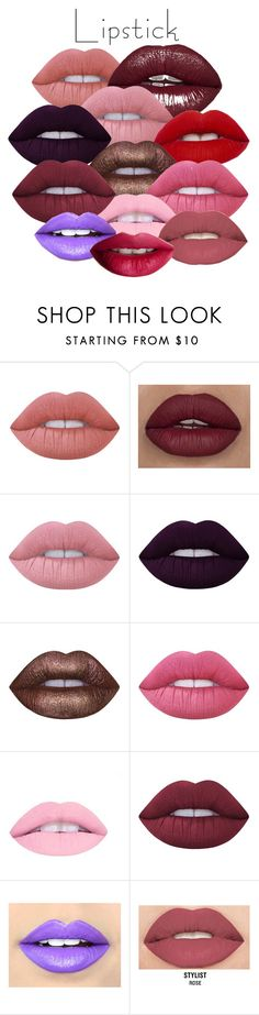 """""""Pick your shade"""" by jennifer-nakonechny ❤ liked on Polyvore featuring beauty, Lime Crime, Fiebiger, Smashbox, TheBalm and summerlipstick"""