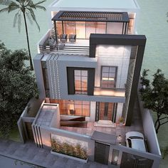 You can turn your house into a very nice place. House Outside Design, House Front Design, Modern House Design, Home Design, Design Ideas, Villa Design, Style At Home, Latest House Designs, Dream House Exterior