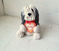 Bearded Collie werden mir Valentine Hund Skulptur von theWRC