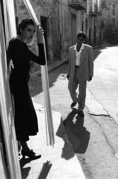 Ferdinando Scianna  ITALY. Sicily. Province of Palermo. Castelbuono. Fashion photograph with Masova and Beatriz. 1988.