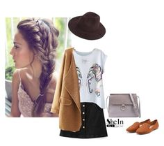 """Shein fedora"" by blueeyed-dreamer ❤ liked on Polyvore featuring contest, skirt, hat and shein"