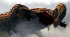 Two rexes squabble over scraps of their latest meal. This was my submission to IPIC 2011