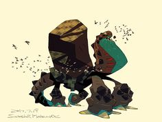 Giant spider tortoise .