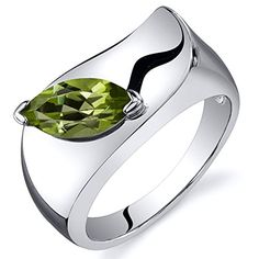 Peridot Ring Sterling Silver Marquise Shape 100 Carats Size 7 >>> More info could be found at the image url.