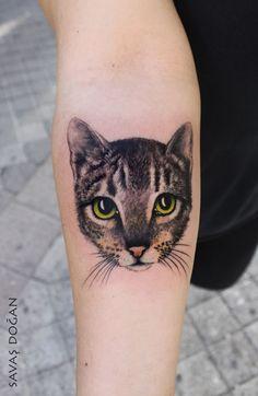 Realistic Cat Forearm Tattoo                                                                                                                                                                                 More