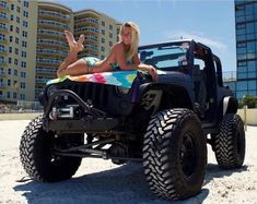 Custom VANS natural BABES & other bad ass transportation. Jeep Wrangler Girl, Jeep Wrangler Rubicon, Jeep Wrangler Unlimited, Jeep Wranglers, Jeep 4x4, Jeep Truck, Dodge Trucks, Trucks And Girls, Car Girls