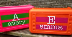 BACK TO SCHOOL - Personalized Pencil Box/ Art Supply holder