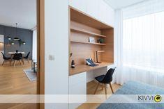 Návrh pracovného kútika v Panorama city Panorama City, Bratislava, Bookcase, Shelves, Interior Design, Home Decor, Shelving, Design Interiors, Homemade Home Decor