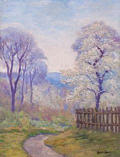 "Henri-Julien Dumont (1859-1921) was a French impressionist painter. His works were exhibited at the Salon and the Société des Artistes Indépendants. Henri-Julien Dumont's paintings were rewarded in 1900 with a bronze medal at the Universal exhibition. (Wikipedia)  (""The Apple Blossoms"" by Henri-Julien Dumont)"