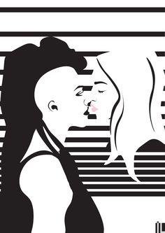 #ilartegrafica #ivanlitenskiartista #ilustracao #ilustracaodigital #illustration #illustrator #minimal #minimalista #minimalart #minimalillustration #sense8 #nomi #amanita #lesbian #love