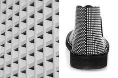 Amazing geometric shape on shoes  #fashion #designer #womensfashion #architecture #pretty #style #design #shoes #studs #boots