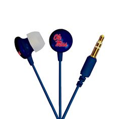 AudioSpice Ignite In-Ear Headphones - University of Mississippi Ole Miss Rebels