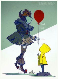 Pennywise via CreatureBox Arte Horror, Horror Art, Horror Drawing, Le Clown, Pennywise The Dancing Clown, Fanart, Posca, Cultura Pop, Horror Films