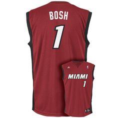 Adidas Miami Heat Chris Bosh NBA Replica Jersey - Boys 8-20, Size: Medium, Red