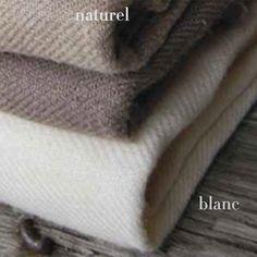 Couvre-lit en lin blanc ou naturel Twill Charvet