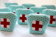 Ouch Pouch - Fill with first aid kit type items - Good gift for moms to put in the diaper bag!