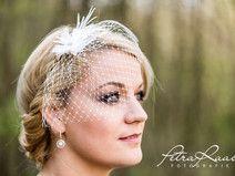 Fascinator Hochzeit Schleier Blüte Haarschmuck 30B