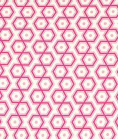 Joel Dewberry Hexagons Magenta Fabric - $9.35   onlinefabricstore.net